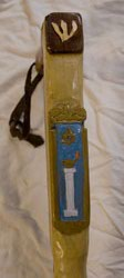 Custom religious theme walking stick by Stanley D. Saperstein