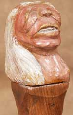 Native American Indian Bust Character for a Walking Stick