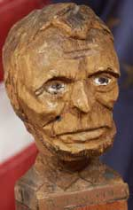 Custom Civil War Walking stick Abbraham Lincoln Bust