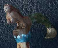 Mermaid Angle View Character for a Walking Stick
